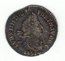 Louis XIV, 1691 M silver 4 sols aux 2 L