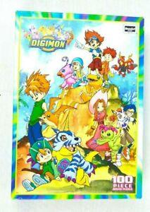 SEALED NEW Digimon Jigsaw Puzzle 100 Pc Digital Monsters Vintage Rose Art Warren
