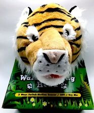 Tiger Head Hanging Interactive Wall Decoration Plush light sound animatronic New