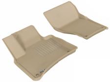 3D MAXpider Custom Fit Kagu Tan 1st Row Floor Liners for Cayenne/VW Touareg