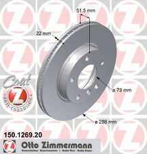 BMW E46 Serie 3 Coppia di Zimmermann Freno Anteriore Dischi (34111162282)
