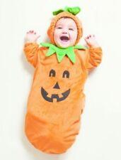 New Hyde & Eek Baby Infant Plush Pumpkin Costume Unisex 0-6m Halloween Bunting