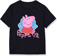 T-Shirt Peppa Pig Cartoni tv bambino bambina maglia maglietta 100% cotone