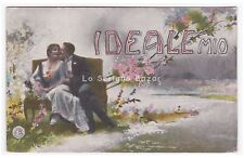 1917 card photography d'epoca Ideal Mio parole and phrases D' amore pair inn