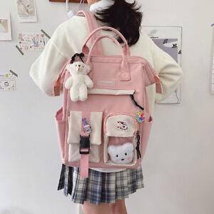 Large Teens Nylon Backpacks College School Bag Teenage Girl Cute Travel Rucksack
