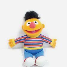 "Sesame Street Ernie Stuffed Animal Plush Sesame Workshop Hasbro 10"" Blue Red"
