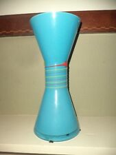 Fanoos Contemporary Blue Art Deco Modern Large & Heavy Glass Vase Vintage