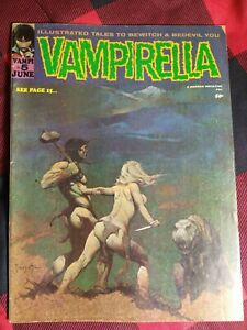 Vampirella #5 VF*(June/1970*Warren Pub.)**Frazetta Cover!