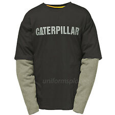 Caterpillar T shirt Men CAT Thermal Layer Long Sleeve Graphic Logo Tee T- Shirts