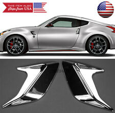 """2PC 5"""" x 5"""" ABS Chrome Side Fender Intake Air Vent w/ Mesh Insert Trim For Ford"""