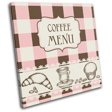 Coffee Sketch Type Food Kitchen SINGLE DOEK WALL ART foto afdrukken