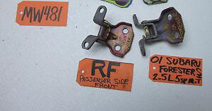 FRONT DOOR HINGES HINGE PASSENGER RIGHT SIDE RF RH R for 98-02 SUBARU FORESTER