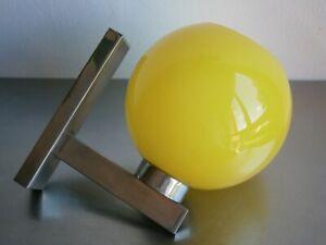 Bracket Vintage 1970 Decoration Pop Opaline Yellow Chrome Fitting Lamp Lita Xx °