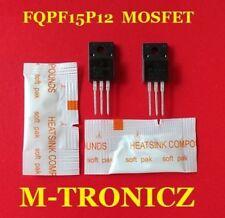 2PCS    FQPF15P12  Q-FET P-CHANNEL  MOSFET  + 2 PKG HEAT SINK COMPOUND