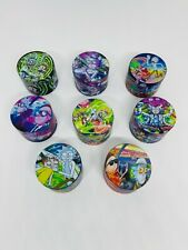 More details for rick and morty grinder 50mm 4 part metal full print smoking set free raw gift