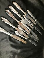 Set of 10 Vintage DREIBRUDER SOLINGEN Stainless Steel Flatware Knives Rare