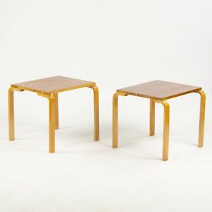 Pair of 1950's Alvar Aalto Side Tables 81 by Finmar Finsven Knoll Finland