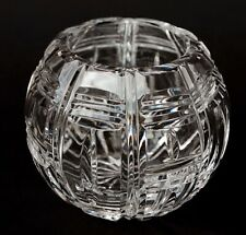 "Beautiful Lead Cut Crystal Glass Rose Bowl 4"""