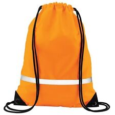 Quadra Fluorescent Orange Gymbag- Enhanced-Viz (Hi Vis) Bag- BNWT