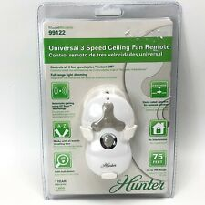Hunter 99122 Universal 3 Speed Ceiling Fan Remote Control NEW