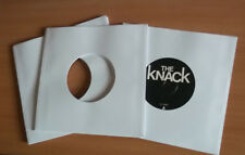 "100 of 7"" vinyl record white paper sleeves 90 gsm fits in card sleeves"