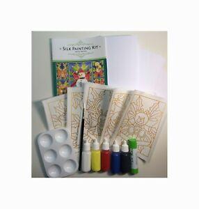 Silkcraft™ Silk Painting: Cardmaking kit-Snowman&others- Makes 5 beautiful Cards