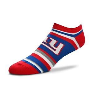 New York Giants NFL Women's For Bare Feet No-Show Socks Size Medium (6-11) - NWT