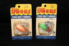 2 WORDEN'S SPIN-N-GLO CORK DRIFT BOBBER (SIZE 2) MADE IN USA /Yakima Bait Co. WA