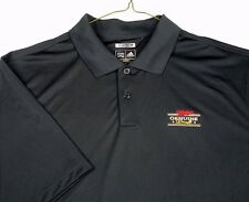 Miller Genuine Draft Beer MGD Adidas Climalite Black Golf Polo Shirt Sz XL EUC