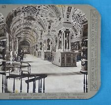 Stereoview Photo Italy Rome Magnificent Vatican Library Richly Adorned Realistic