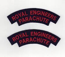 ROYAL ENGINEERS PARACHUTE WW2 REPRODUCTION CLOTH SHOULDER TITLES - PER PAIR