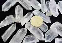 5 Large Clear Quartz Natural Terminations Points Wands Tip Rock Crystal Gemstone