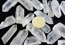 5 Large Quartz Natural Terminations Points Wands Tip Rock Crystal Gemstone