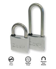 ZONE MARINE PADLOCKS - Weather & Rust Proof - Standard or Long Shackle available
