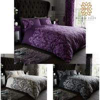 Empire Damask Printed Duvet Cover Set Pillowcase Quilt Bedding Set Double King