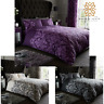 Empire Damask Printed Duvet Cover Set Pillowcase Quilt Bedding Set Double King