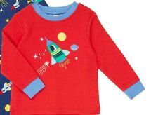 John Lewis Baby Space Jersey Pyjama Top / Red 6-9 Months Brand New With Tags