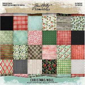 TIM HOLTZ IDEA-OLOGY CHRISTMAS 8X8 Scrapbooking Paper Pad 24 Sheet TH94085 NEW