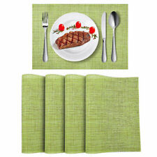 Placemats Set of 4 Woven Vinyl Place Mats Heat Resistant Dining Table Mats