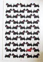 Scottish Terrier Dog Cotton Tea Towel Approx Size 74cm x 47cm