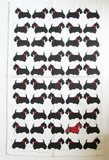 Scottish Terrier Dog Cotton Tea Towel Approx Size 74cm x 47cm