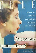 MAGAZINE ELLE N° 357 de 1952 MODE HAUTE COUTURE LE ROSE FARDE TAILLEUR COIFFURE