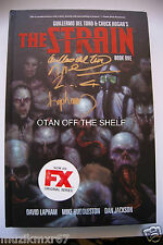 SDCC Comic Con 2015 EXCLUSIVE The Strain Book One signed Guillermo del Toro