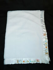 Carters Thank Heaven For Little Ones White Sherpa Baby Blanket Bear Duck Lion