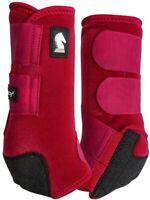 Crimson RED Classic Equine Legacy2 Boots Horse Tack SMB Sport Medicine