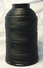 Braided Poly Thread Black Size 277 Bonded 1/4lb for leather, upholstery and more