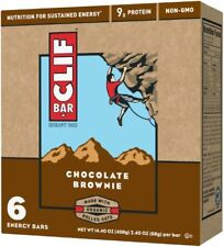 NEW SEALED CLIF ENERGY BAR CHOCOLATE BROWNIE 14.40 OZ 9G PROTEIN NON-GMO