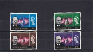 Ascension Is 1966 Churchill Commemoration SG 91/4 Mint Unhinged