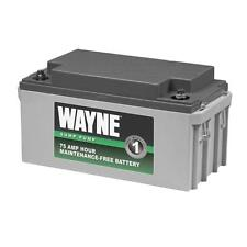Wayne 75 Amp Hour Maintenance-Free Battery for Back-Up System Sump Pump