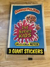 Garbage Pail Kids 1st Series 1986 3 giant stickers Unstiched Mitch Wrappin Ruth